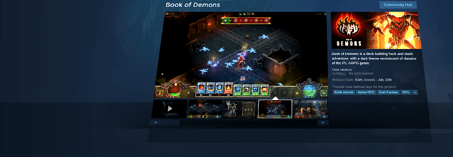 Book of Demons is Live on Steam